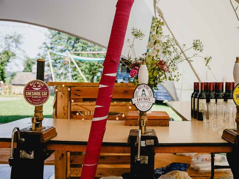 Trapeze_Marquee_Interior_Beer_Pumps