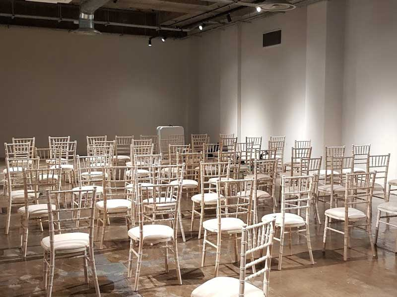 Chairs in a conference venue